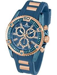 Jacques Lemans Herren-Armbanduhr XL Liverpool Professional Chronograph Quarz Silikon 1-1805E