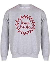 Kelham Print Team Bride - Wreath 2 - Grey - Unisex Fit Sweater - Fun Slogan Jumper