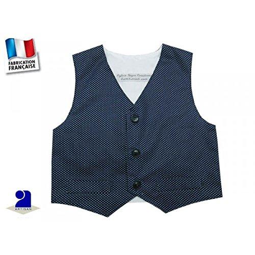 Poussin bleu - Gilet sans manche garçon, marine 3 mois au 10 ans Couleur - Bleu, Taille - 74 cm 12 mois
