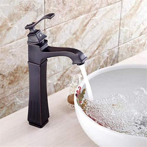 Mezclador De Cobre De Lujo Moderno Faucet Negro Interruptor Frío Mezclador De...