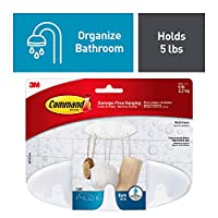 3M Command Bathroom Hook with Water Resistant Strips - Multi-Hook, White