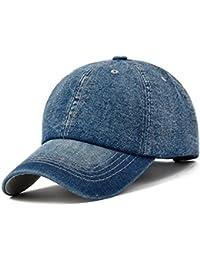 KeepSa Gorra de béisbol Hombres Mujeres Gorras Snapback Sombreros Vaqueros  Denim Blanco Hueso Visera Gorras Casquette a8bf2a85a81