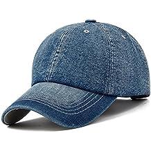 KeepSa Gorra de béisbol Hombres Mujeres Gorras Snapback Sombreros Vaqueros  Denim Blanco Hueso Visera Gorras Casquette a3a24b1fab2