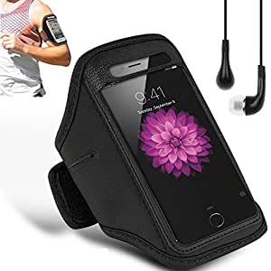 N+ INDIA OPPO FIND 5 Adjustable Armband Gym Running Jogging Sports Case Cover Holder with free earphone with mic Black