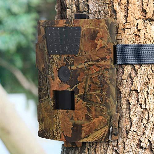 Sommer\'s Laden Full HD Profi Outdoor Überwachungskamera, Wildkamera Nachtsicht 100° Weitwinkel 12 MP 1080P Wasserdicht Kabellos 0.4 Sekunden Auslösezeit, Bewegungsmelder Fotofalle