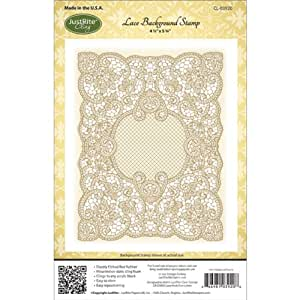 Justrite Papercraft Rubber Just Rite Cling Background Stamp 4.5-inch x 5.75-inch, Lace
