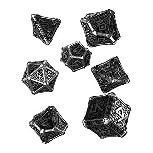 Q Workshop Metal Mythical 7 Polyhedral Ornamented Dice Set