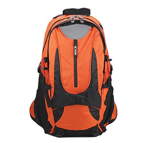 Outdoor Borsa Sportiva 35L Sacchetti Di Alpinismo Borse Da Viaggio Inviare Parapioggia,Gray Orange