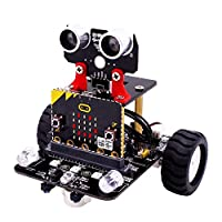Nrpfell Robot Kit For Micro:Bit Stem Robotics Kits For Kids To Programmable Bbc Microbit Robots Diy Toy Car With Tutorial Tracking Scientific Education (Without Micro:Bit)