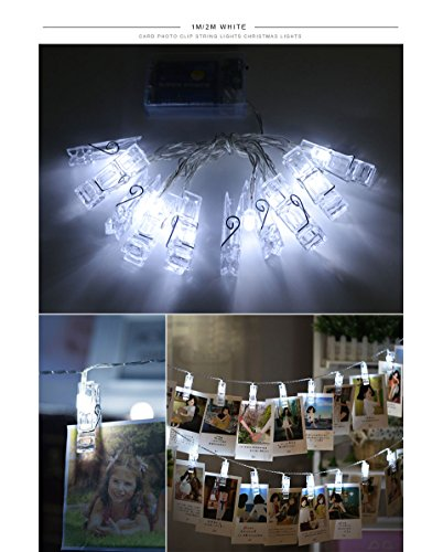Flexibler LED-Streifen 20Wäscheklammern Clips 2m. Dekorieren Postkarten, Erinnerungen, Tickets, Karten, Fotos, Bändern Blumen.. Beleuchtung...