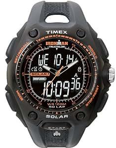 Timex Ironman Triathlon 50 Lap Solar With Dual Tech Black/Orange Strap Watch - T5G691SU