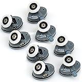 yuanqian 8Duschtürrollen, Läufer, Rollen-Set, 25mm im Durchmesser
