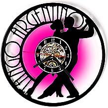 Hulinlian Clásico Tango CD Registro Reloj de Pared Antiguo Disco de Vinilo Reloj de Pared Creativo