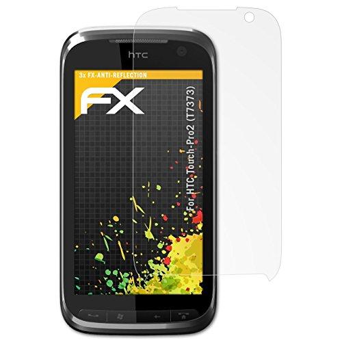 atFolix Panzerfolie kompatibel mit HTC Touch-Pro2 (T7373) Schutzfolie, entspiegelnde und stoßdämpfende FX Folie (3X) Htc Touch Pro Smartphone