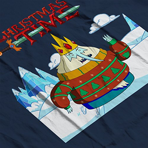 Adventure Christmas Time Ice King Ice World Cartoon Network Women's Vest Navy blue