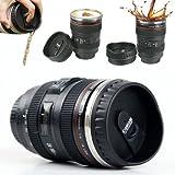 KABALI Stainless Steel Fancy Camera Lens Mug - Black