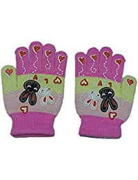 Platinum Exclusive multi colored kids woollen Gloves for 4-7 years (Pack of 1) in SALE!