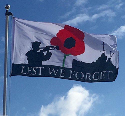 WELTKRIEG 1ersten Weltkrieges, dass wir nicht vergessen 5ft x 3ft Marineblau British Forces Flagge + 59mm Button
