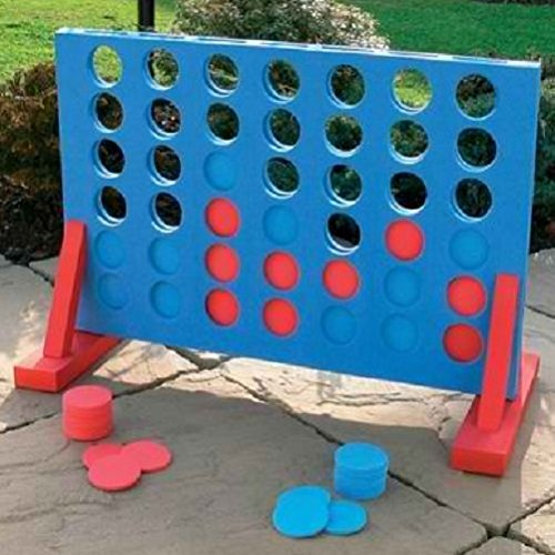 Great Gift For Kids ! Giant Connect 4 In A Row Garden Outdoor Game Kids Adults Family Fun / Toys Game Play Kids Childrens Child Toddler Baby Cool Activity Educational Creative Fun Special Unique Devlopment Developmental Friends Boys Girls Present Latest N