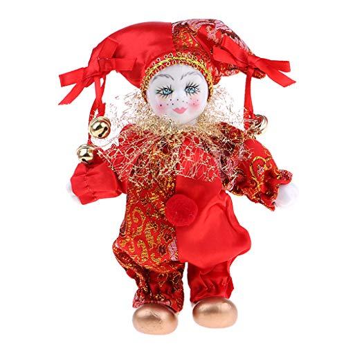 Baoblaze 6inch Italienische Eros Triangel Puppe Liebe Token Handwerk Kinder Weihnachten Geschenk Rot - Rot