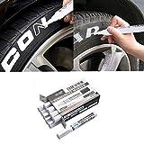 AITOCO AITOCO Weiß Reifenfarbe Marker Pens 10 STÜCKE Wasserdichte Permanent Pen Fit für Auto Motorrad Reifenprofil Gummi Metall