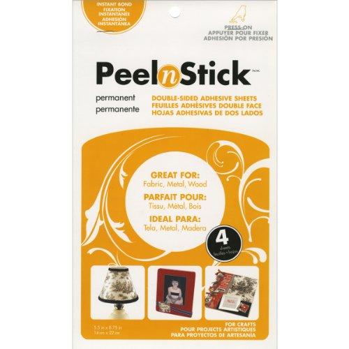 """Thermoweb Peel n Stick Adhesive Sheets-5.5""""X8.75"""" 4/Pkg"""