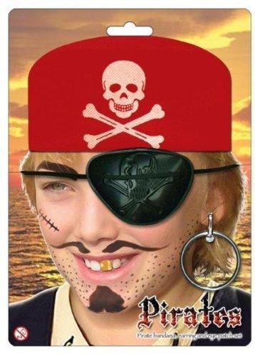 Kids-Pirate-Dress-Up-Accessory-set-Red-Bandana-Eye-Patch-Earring-set