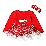 6674ab828b4b Culater Nuovo Anno Di Natale Baby Girl Vestito Rosso Festa Bambini Tulle  Costume Per I Vestiti