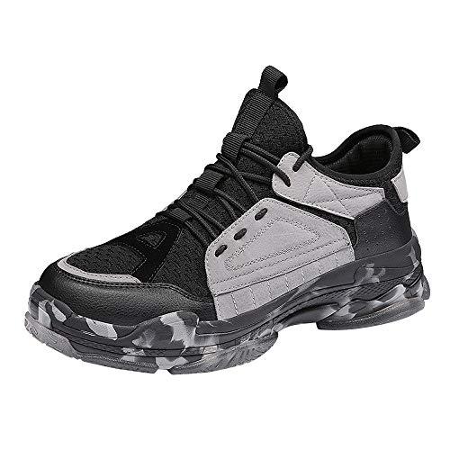 Sneaker, LuckyGirls Mode Nouveau Automne Hiver Chaussures de Sport Homme Multisports Compétition Trail Entraînement Course Running Baskets 35-43 (44, Noir B)