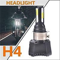 H4 bombilla LED para faros de motocicleta, 4600Lm lo Haz faros de 40w H4 h6 S2 BA20D P15D25-1 tiene un ventilador de refrigeración para honda Yamaha Kawasaki Suzuki
