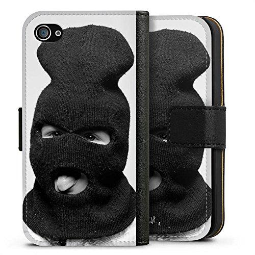 Apple iPhone X Silikon Hülle Case Schutzhülle Oliver Rath Maske Hipster Sideflip Tasche schwarz