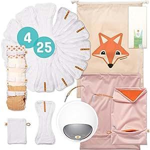 Foxy Baby® Komplettpaket Stoffwindeln S1 (56/74), hergestellt in Deutschland
