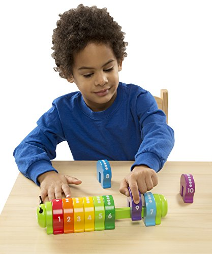 Melissa & Doug Counting Caterpillar - Classic Wooden Toy With 10 Colorful Numbered Segments