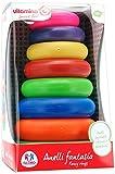 Globo Toys Globo–5046VITAMINA _ G Rainbow Tower Spielzeug mit 7-rings
