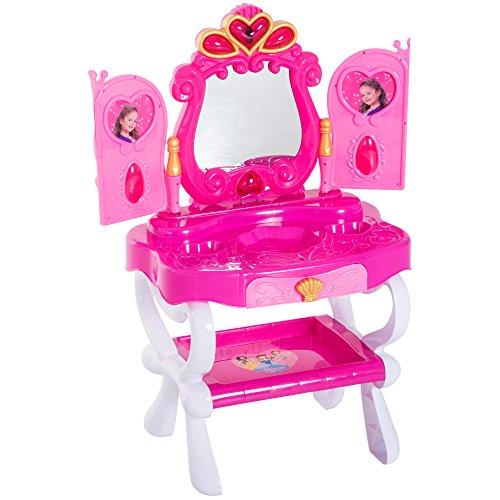 HOMCOM Tocador Niña Infantil Princesa Mesita Maquillaje
