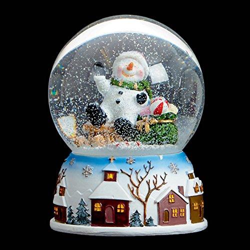 100 mm musical Bonhomme de neige Boule de neige Premier Décorations de Noël Mo151339