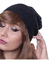 Prettystern - Bonnet chapeau Pure Cachemire 2-Fils Unisex Onesize Hollywood Star Beanie - Disponible en 5 Couleurs