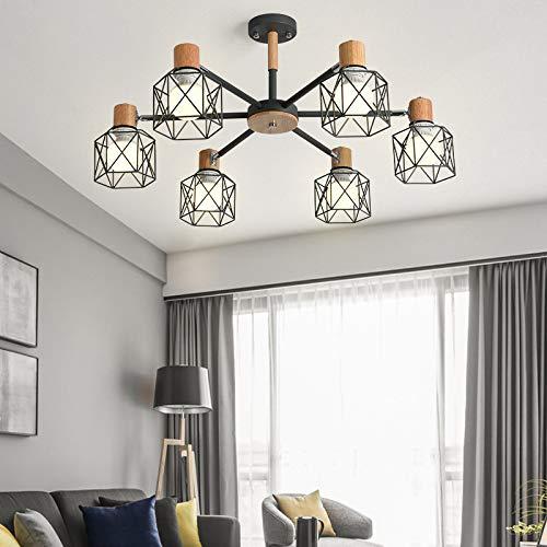 Estudio simple lámpara de led dormitorio comedor lámpara 6 gris con monocromo led luz blanca bombilla de 9 vatios