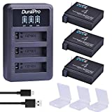 DuraPro 3Pcs 1680mAh AHDBT-401 Battery + LED USB 3-Slots Charger for Gopro Hero 4 Battery Go Pro Hero4 AHDBT 401 Action Camera Accessories