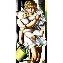 Poster 60 x 120 cm: Porträt von Fräulein Rachou von Tamara de Lempicka / AFIN. - hochwertiger Kunstdruck, neues Kunstposter