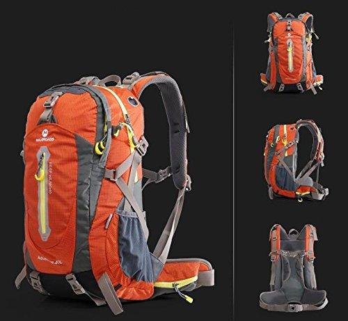 Outdoor uomini e donne Borse da viaggio Borse escursioni tracolla 40L50L ( Colore : Nero , dimensioni : 40L ) Arancia