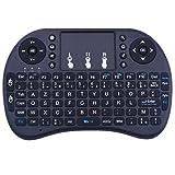Kuman 2,4ghz 92 boutons Français , AZERTY Mini Clavier Française Ergonomique sans Fil avec Touchpad -Pour Smart TV, mini PC, HTPC, Console, Ordinateur Raspberry Pi 3 2 model B SC12