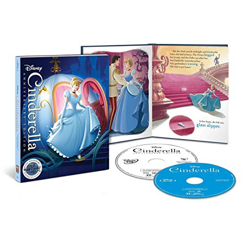 Cinderella The Signature Collection Limited Edition Blu Ray + DVD + Digital + Plus Filmmaker Gallery Storybook