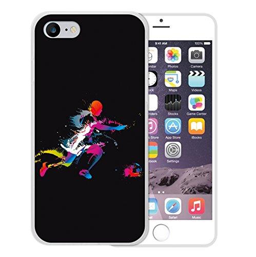 WoowCase Hülle Case für [ iPhone 7 ] Handy Cover Schutzhülle Strategie Fußballtisch Housse Gel iPhone 7 Transparent D0006
