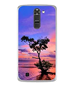 Snapdilla Designer Back Case Cover for LG K10 :: LG K10 Dual SIM :: LG K10 K420N K430DS K430DSF K430DSY (Sunset Ocean Landscape Illustration Sunlight)