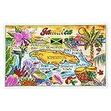 Jamaika Karte Baumwolle Tee Küche Handtuch 48,3x 76,2cm