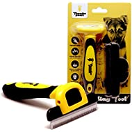 Best Professional Deshedding Tool and Pet Grooming Brush – D-Shedz by Thunderpaws for Small, Medium and Large Breeds of Dogs and Cats with Short