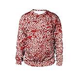 Halloween Sweatshirts Damen Blut Handprint Maggots Party Langarm Pullover Bluse Streetwear SANFASHION