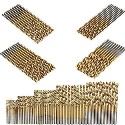 SUNSHINETEK 50 Pcs Forets HSS Micro Foret 1/1.5/2 / 2.5 / 3mm...