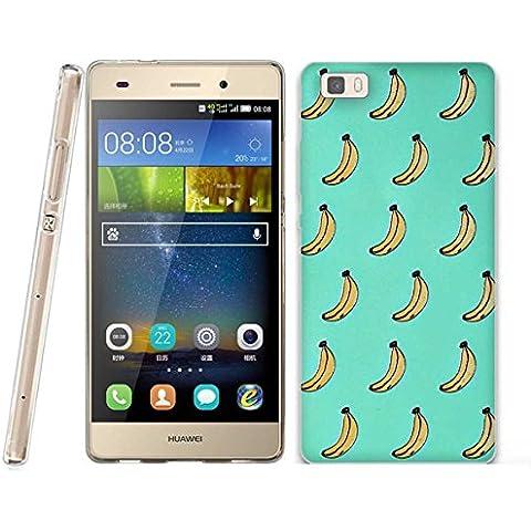 Funda Huawei P8 LITE - Fubaoda - 3D Realzar, Dibujos animados Patrón, Gel de Silicona TPU, Fina, Flexible, Resistente a los arañazos en su parte trasera, Amortigua los golpes, funda protectora anti-golpes para Huawei P8